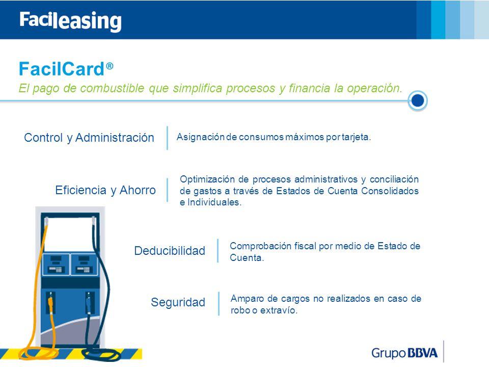 11 FacilCard ® El pago de combustible que simplifica procesos y financia la operación.