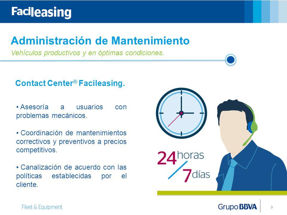 9 Contact Center ® Facileasing.Asesoría a usuarios con problemas mecánicos.