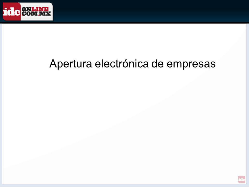 Apertura electrónica de empresas