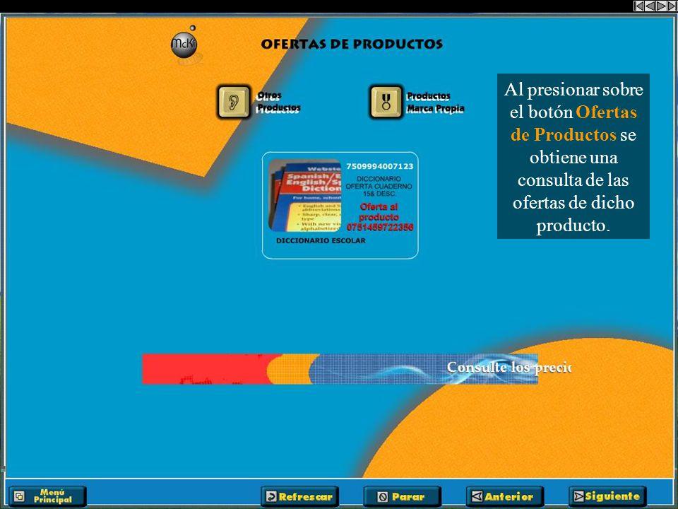 Al presionar sobre el botón Otros Productos podemos consultar más productos con la misma descripción. Ejemplo: Diccionario