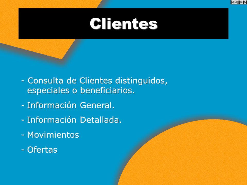 Se pueden obtener consultas de los diferentes tipos de Ofertas del día en forma dinámica Además, podemos realizar la impresión de Ticket de Ofertas.