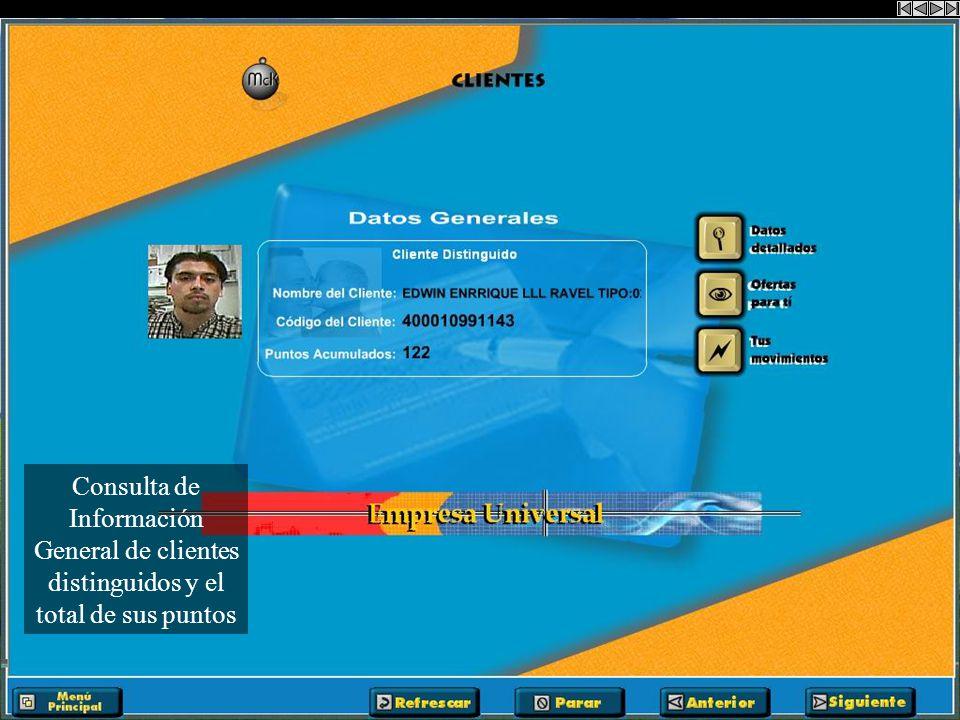 Se introduce el código de cliente para consultar la información