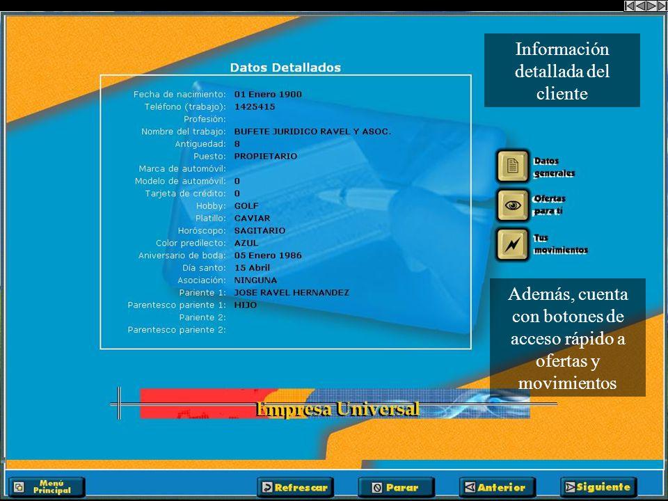 Consulta de Información General de clientes distinguidos y el total de sus puntos