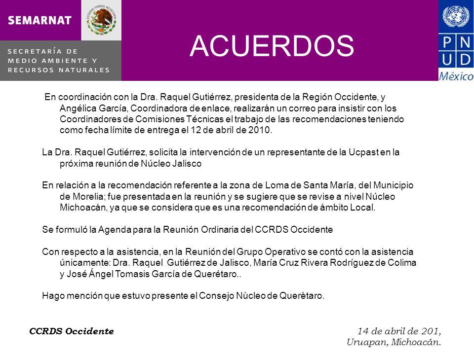 CCRDS Occidente 14 de abril de 201, Uruapan, Michoacán.