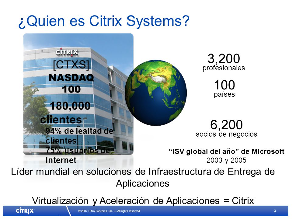 3 © 2007 Citrix Systems, Inc.