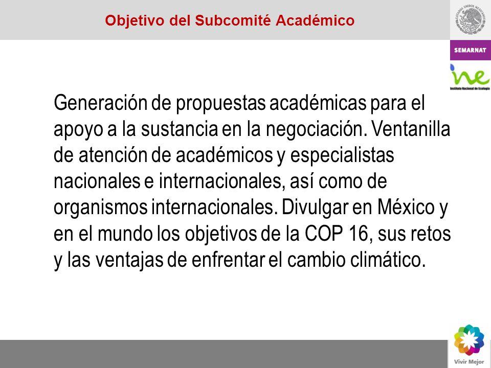 Generación de propuestas académicas para el apoyo a la sustancia en la negociación. Ventanilla de atención de académicos y especialistas nacionales e