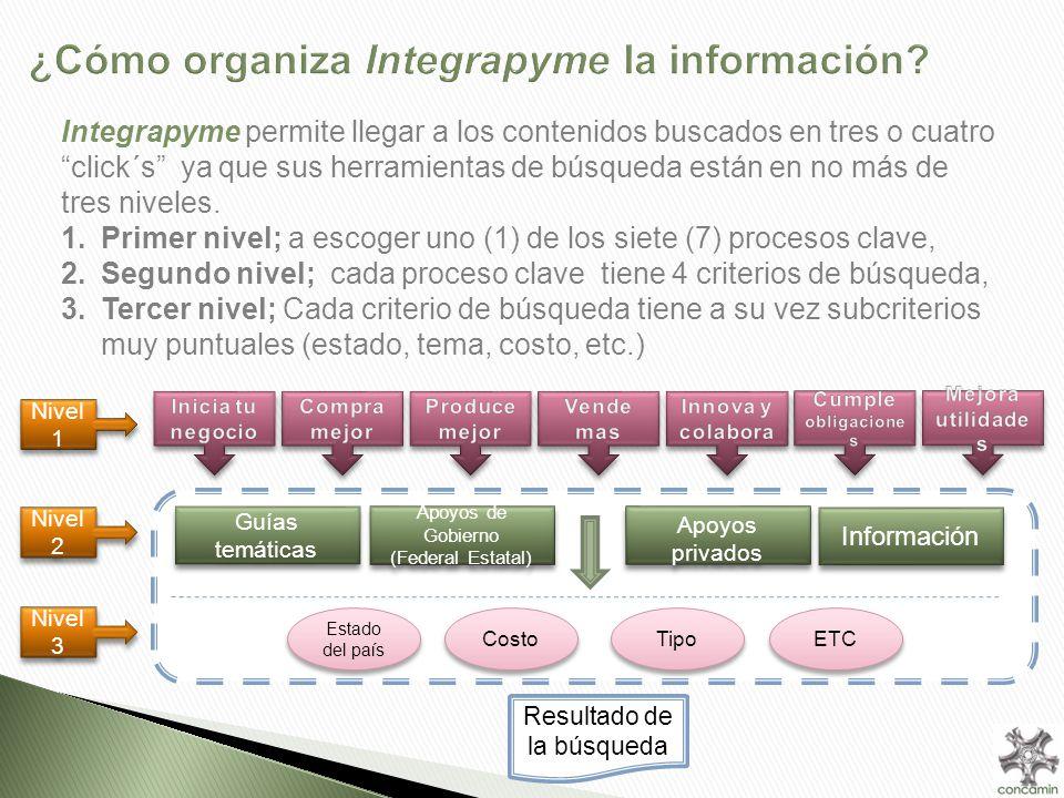 ¿Cómo organiza Integrapyme la información.