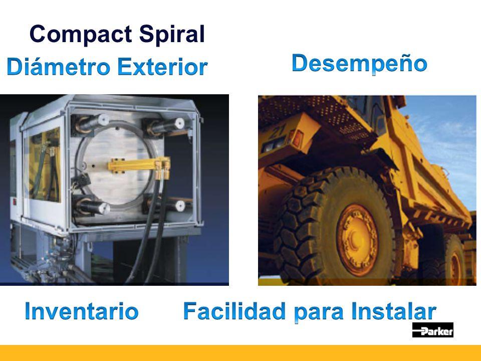 Nuevas Mangueras Compact Spiral Diseñada conforme a prioridades de la industria Superior a cualquier manguera SAE en espiral Manufacturada bajo especificaciones ISO Especificación para manguera desde 2006 Manguera de presión de trabajo constante