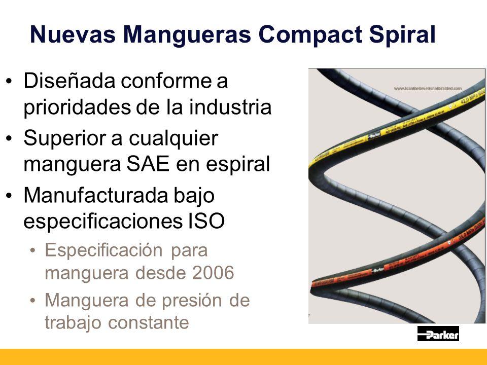 Nuevas Mangueras Compact Spiral Diseñada conforme a prioridades de la industria Superior a cualquier manguera SAE en espiral Manufacturada bajo especi
