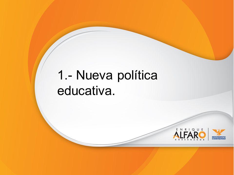 1.- Nueva política educativa.