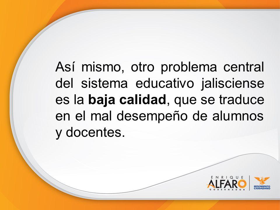 4.- Garantizar la cobertura de educación media superior y superior en Jalisco.