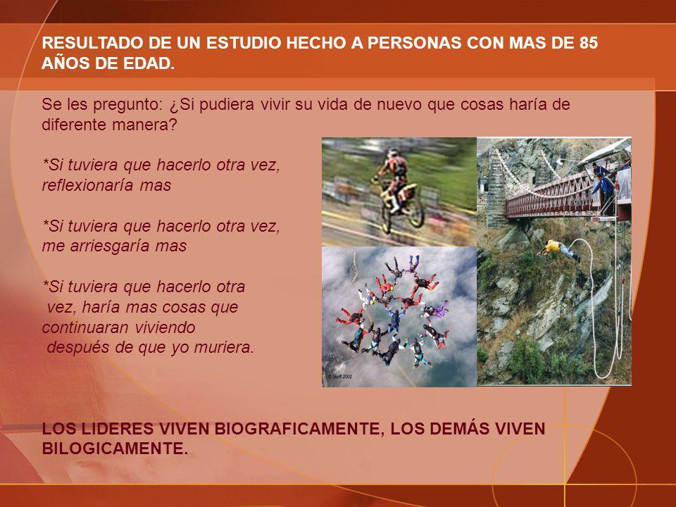 RESULTADO DE UN ESTUDIO HECHO A PERSONAS CON MAS DE 85 AÑOS DE EDAD.