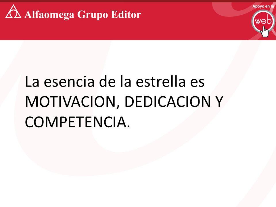 La esencia de la estrella es MOTIVACION, DEDICACION Y COMPETENCIA.