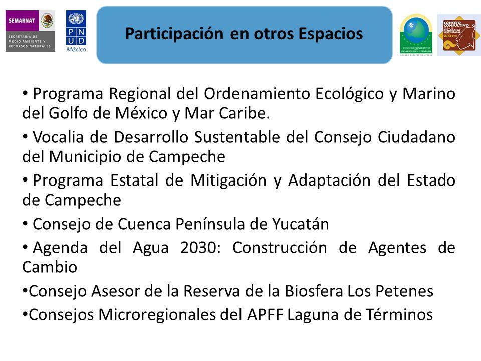 Programa Regional del Ordenamiento Ecológico y Marino del Golfo de México y Mar Caribe. Vocalia de Desarrollo Sustentable del Consejo Ciudadano del Mu