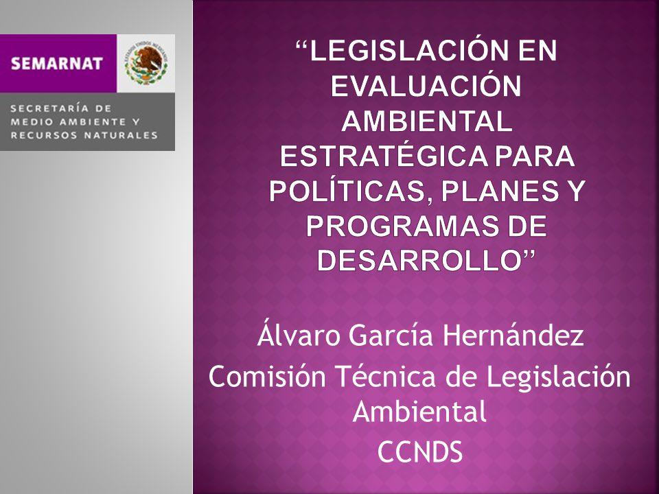 Álvaro García Hernández Comisión Técnica de Legislación Ambiental CCNDS