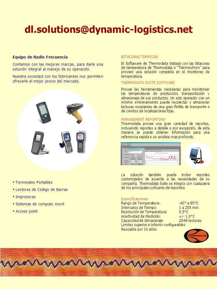 BITACORAS TERMICAS El Softaware de Thermodata trabaja con las bitacoras de temperatura de Thermodata o Thermochron para proveer una solución completa en el monitoreo de temperatura.