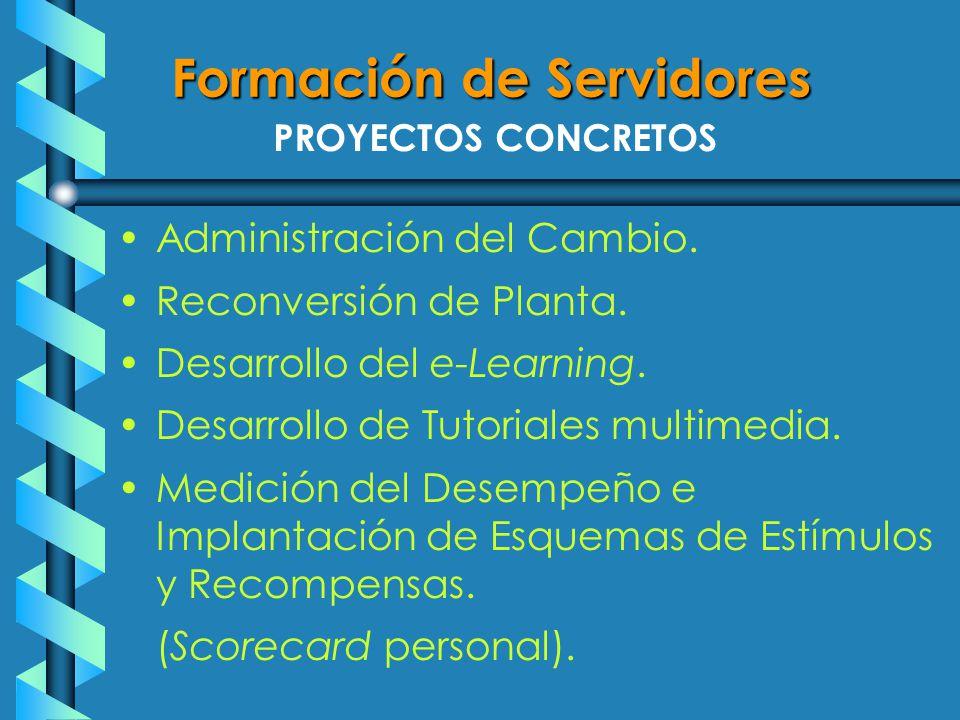 PROYECTOS CONCRETOS Administración del Cambio. Reconversión de Planta.