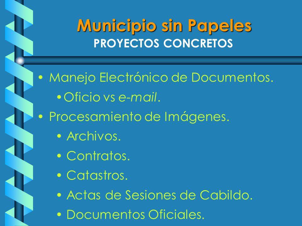 PROYECTOS CONCRETOS Manejo Electrónico de Documentos.
