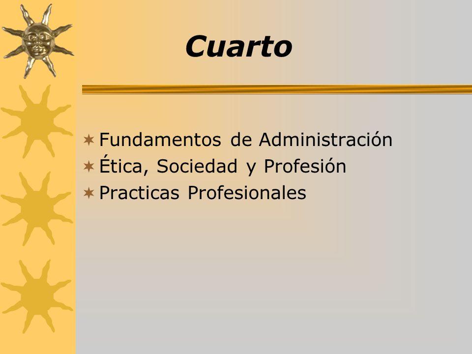 Cuarto Fundamentos de Administración Ética, Sociedad y Profesión Practicas Profesionales