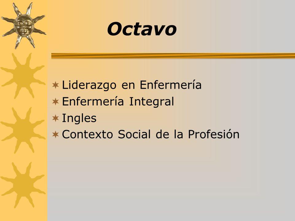 Octavo Liderazgo en Enfermería Enfermería Integral Ingles Contexto Social de la Profesión