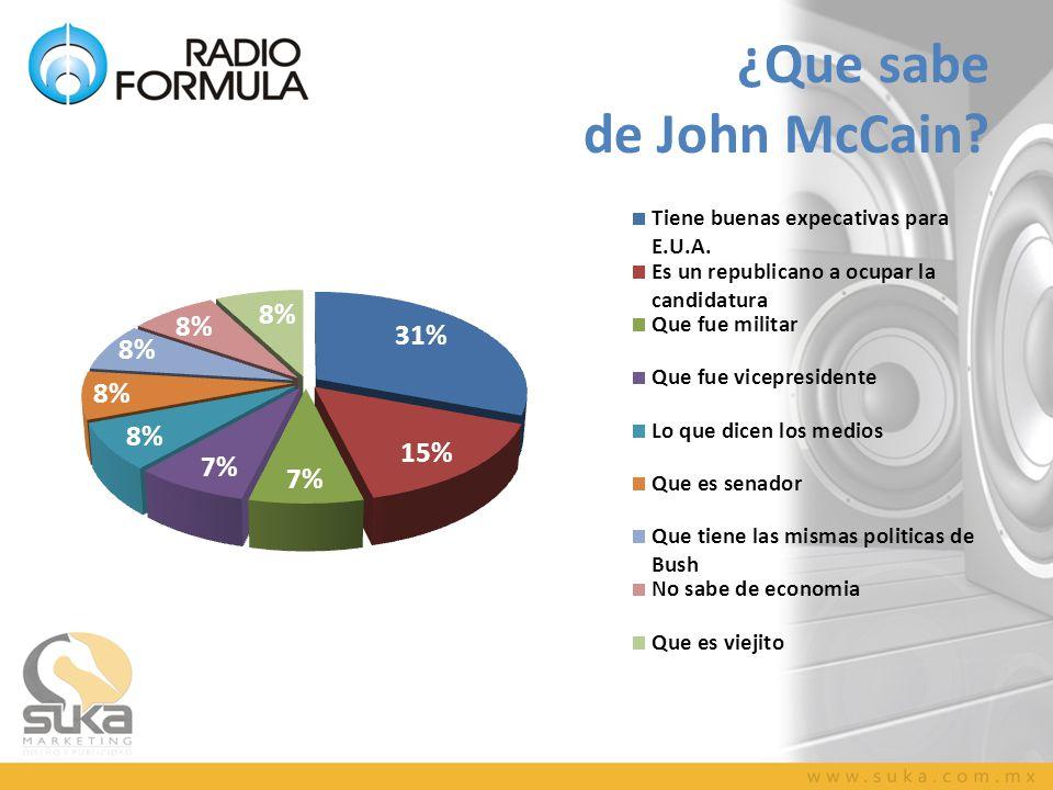 ¿Que sabe de John McCain?