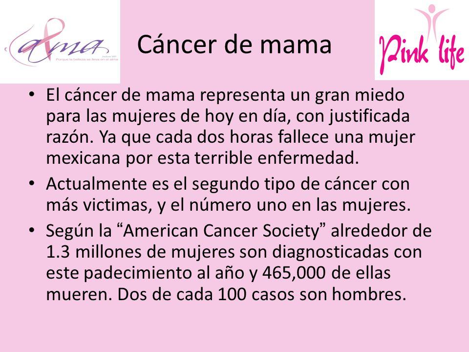 Cáncer de mama El cáncer de mama representa un gran miedo para las mujeres de hoy en día, con justificada razón.