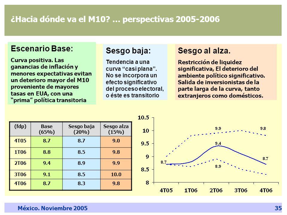 México. Noviembre 200535 ¿Hacia dónde va el M10.