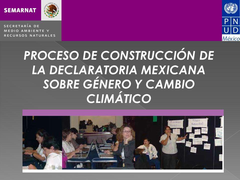 PROCESO DE CONSTRUCCIÓN DE LA DECLARATORIA MEXICANA SOBRE GÉNERO Y CAMBIO CLIMÁTICO