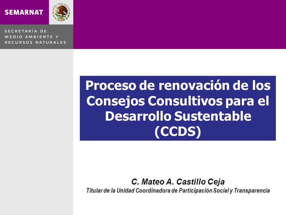 Proceso de renovación de los Consejos Consultivos para el Desarrollo Sustentable (CCDS) C.