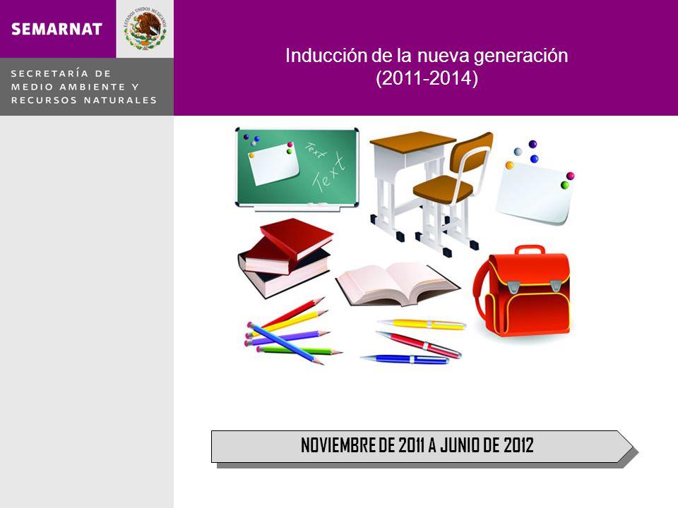 Inducción de la nueva generación (2011-2014) NOVIEMBRE DE 2011 A JUNIO DE 2012