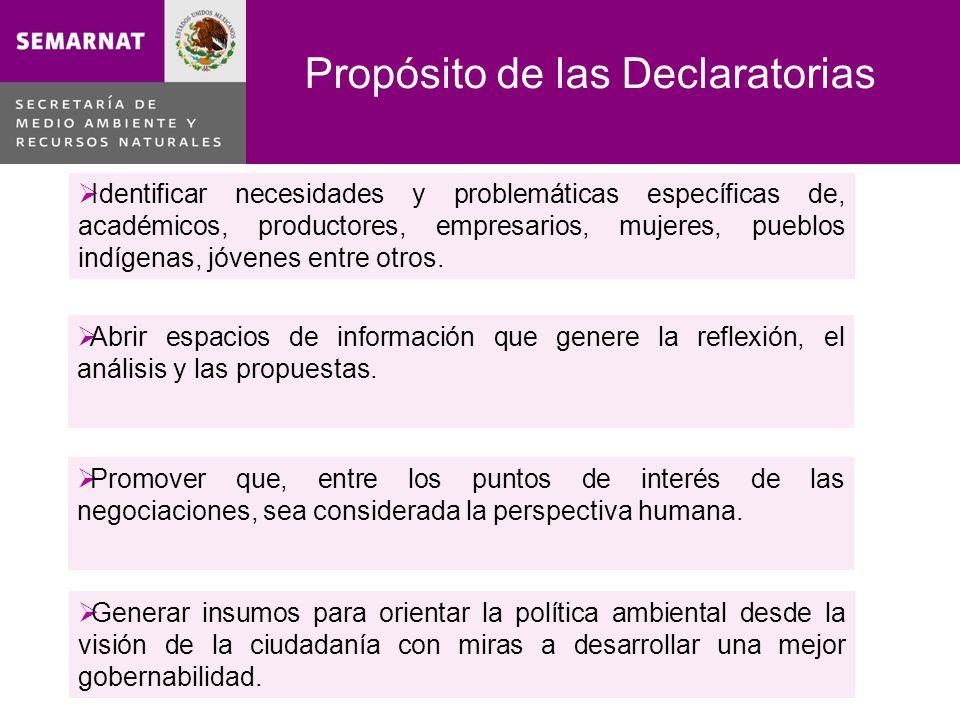 Las Declaratorias ciudadanas….Declaratoria Motivante, que inspire a la acción.