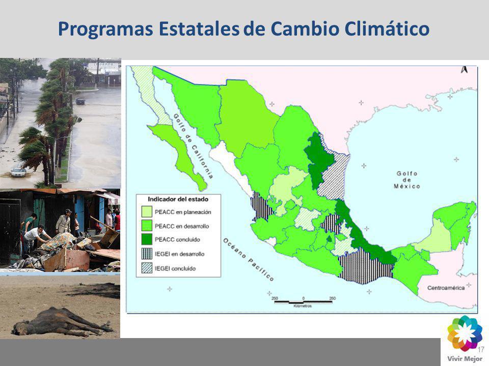 17 Programas Estatales de Cambio Climático