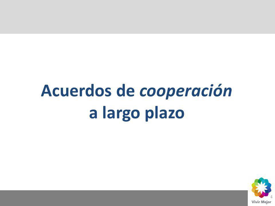 4 Acuerdos de cooperación a largo plazo