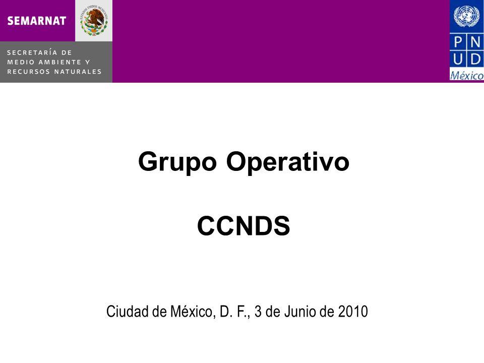 Grupo Operativo CCNDS Ciudad de México, D. F., 3 de Junio de 2010