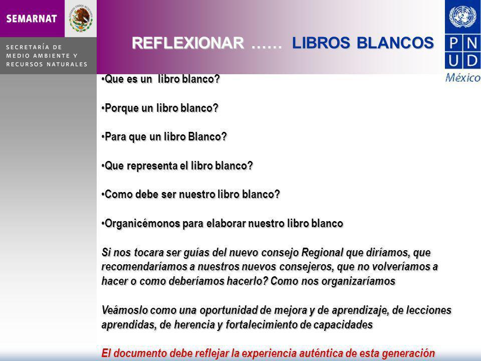 REFLEXIONAR …… LIBROS BLANCOS Que es un libro blanco? Que es un libro blanco? Porque un libro blanco? Porque un libro blanco? Para que un libro Blanco