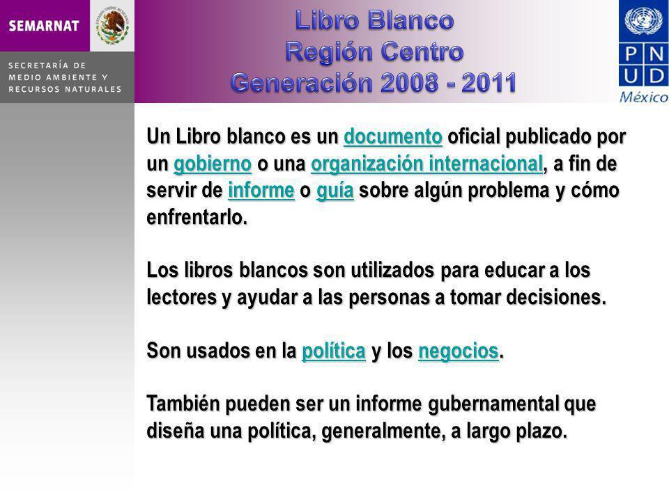 Un Libro blanco es un documento oficial publicado por un gobierno o una organización internacional, a fin de servir de informe o guía sobre algún problema y cómo enfrentarlo.
