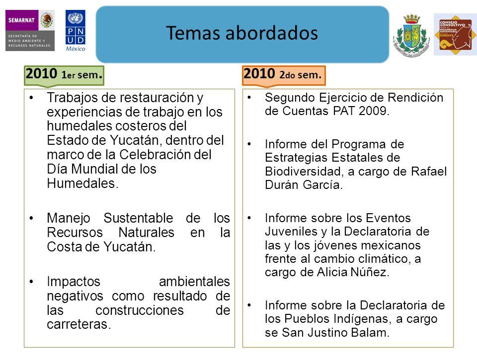 Trabajos de restauración y experiencias de trabajo en los humedales costeros del Estado de Yucatán, dentro del marco de la Celebración del Día Mundial de los Humedales.