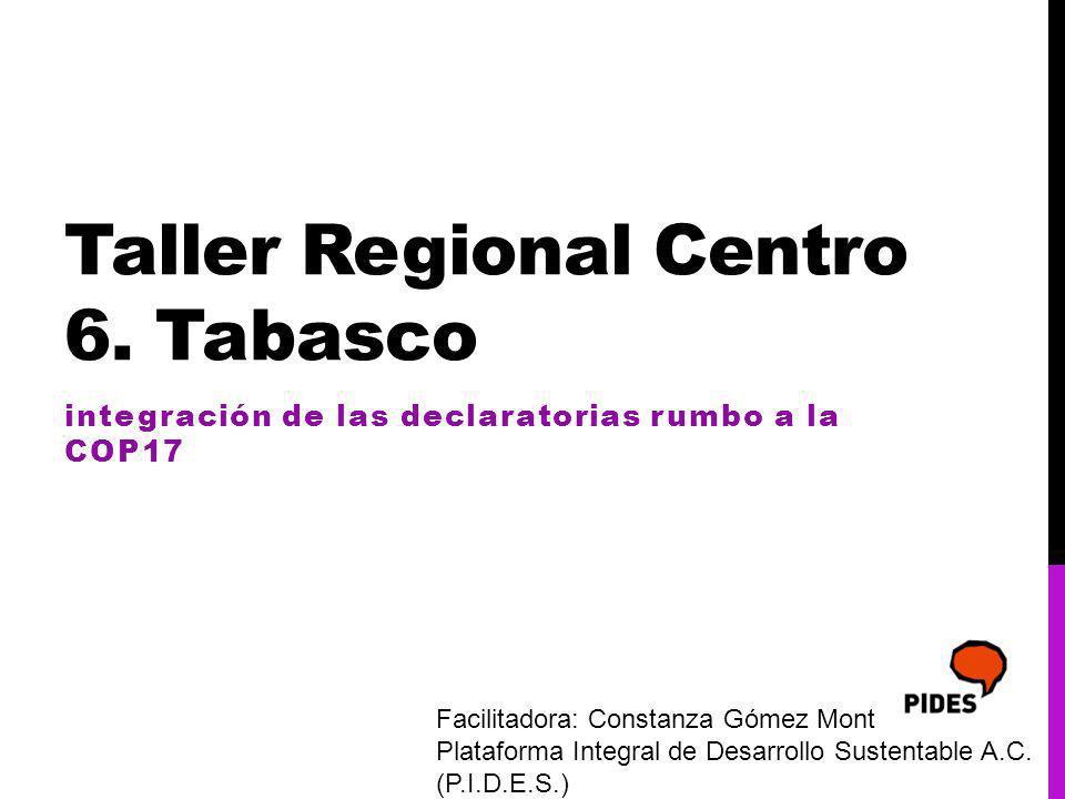 Taller Regional Centro 6.