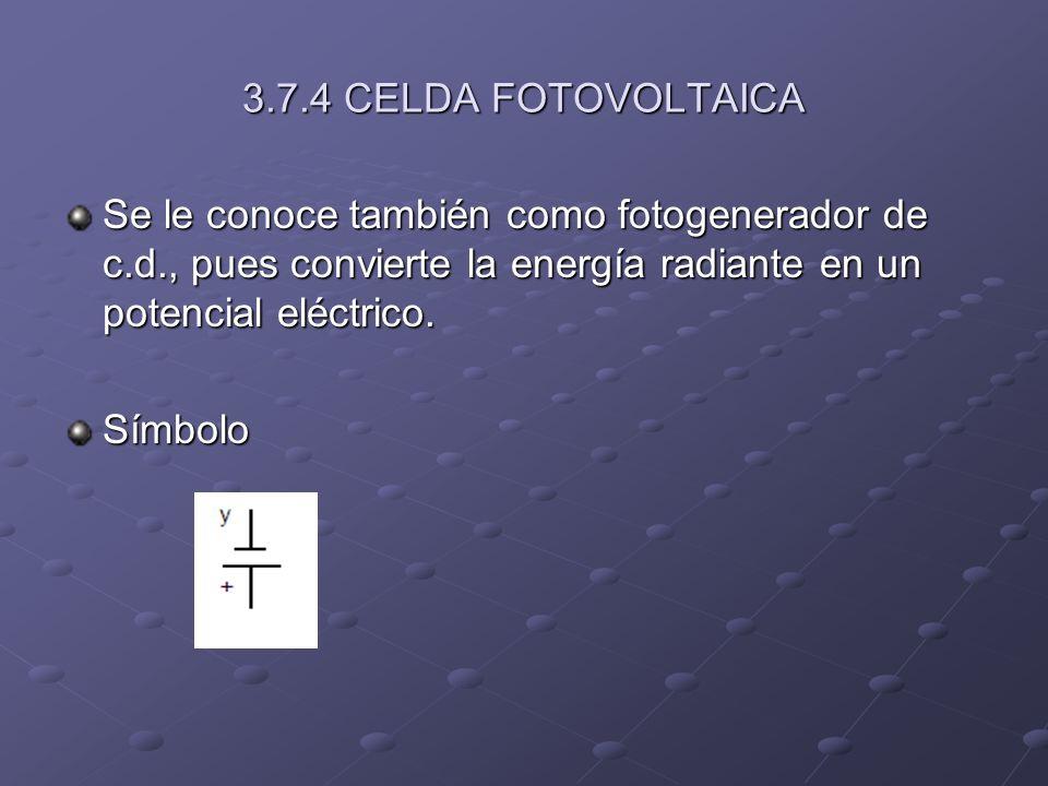 CELDA FOTOVOLTAICA DE SELENIO El selenio es sensible a la gama de luz visible (400 a 700mu).