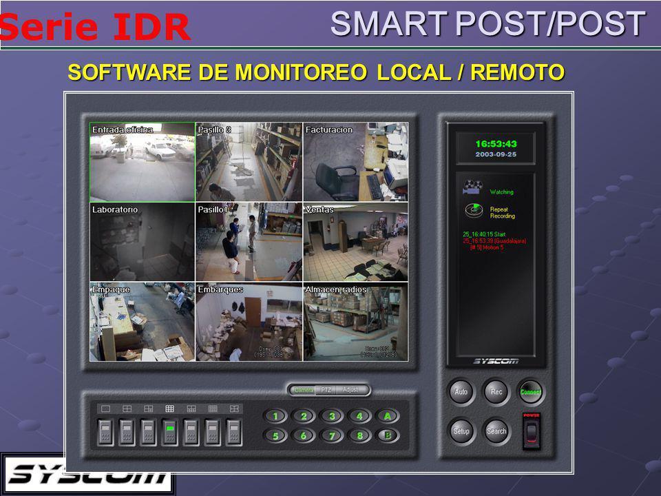 Serie IDR SOFTWARE DE MONITOREO LOCAL / REMOTO SMART POST/POST