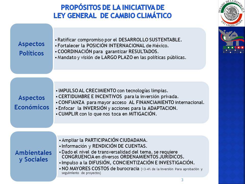 Ratificar compromiso por el DESARROLLO SUSTENTABLE. Fortalecer la POSICIÓN INTERNACIONAL de México. COORDINACIÓN para garantizar RESULTADOS. Mandato y