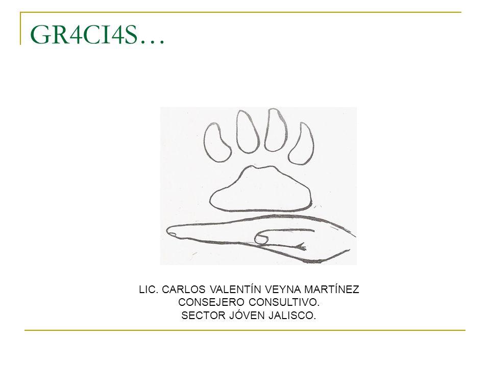 GR4CI4S… LIC. CARLOS VALENTÍN VEYNA MARTÍNEZ CONSEJERO CONSULTIVO. SECTOR JÓVEN JALISCO.
