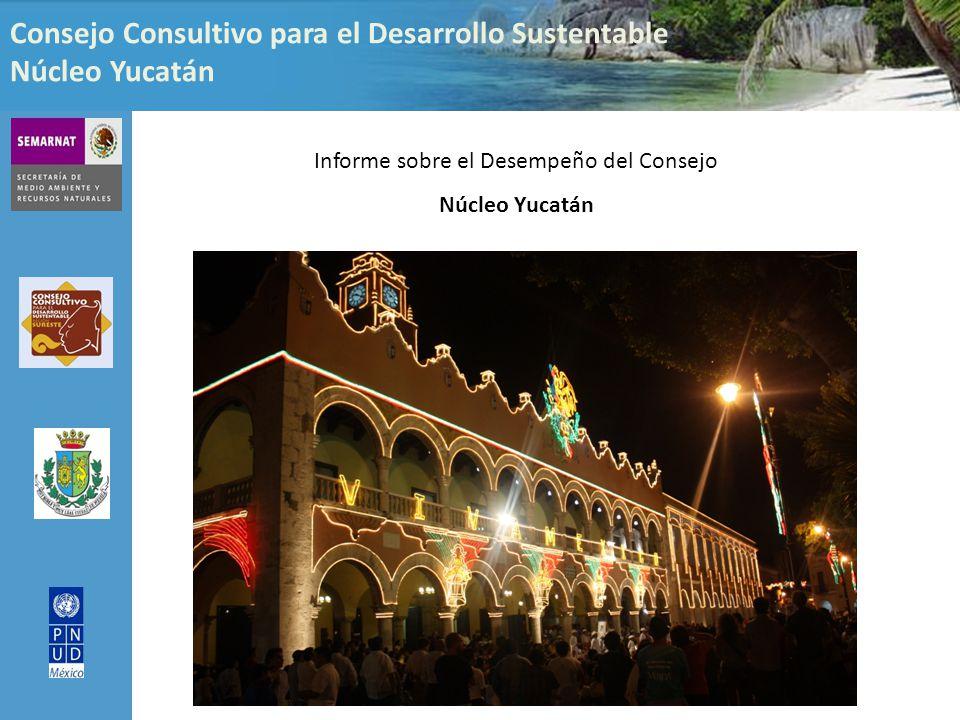 Consejo Consultivo para el Desarrollo Sustentable Núcleo Yucatán Informe sobre el Desempeño del Consejo Núcleo Yucatán