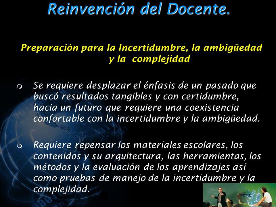 Reinvención del Docente.