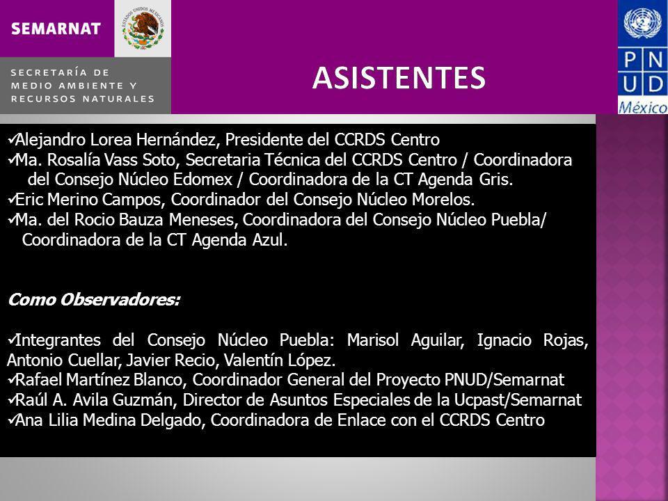 Alejandro Lorea Hernández, Presidente del CCRDS Centro Ma. Rosalía Vass Soto, Secretaria Técnica del CCRDS Centro / Coordinadora del Consejo Núcleo Ed
