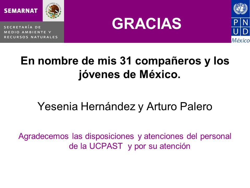 GRACIAS En nombre de mis 31 compañeros y los jóvenes de México.