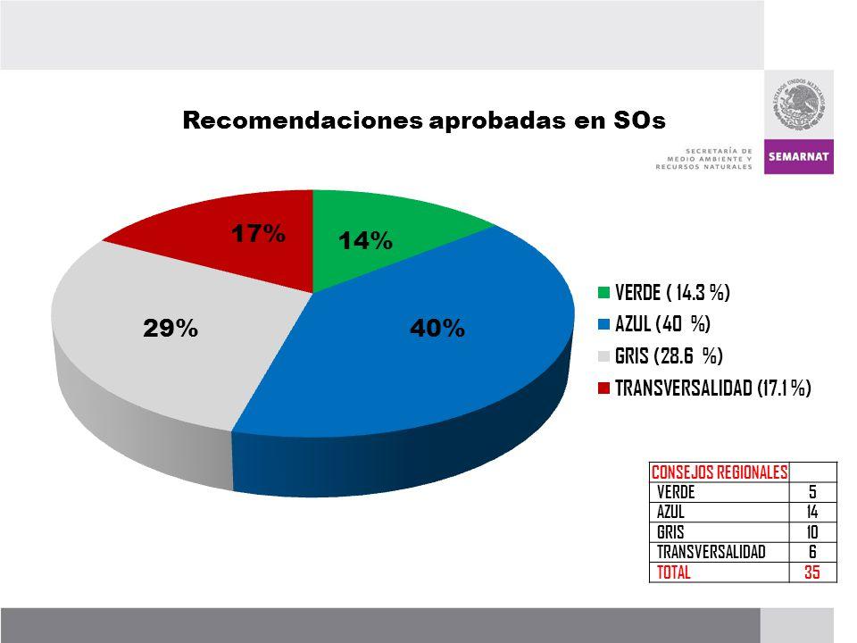 PROCESO DE RENOVACIÓN DE LOS CCDS (2005 – 2007) CONSEJOS REGIONALES VERDE5 AZUL14 GRIS10 TRANSVERSALIDAD6 TOTAL35