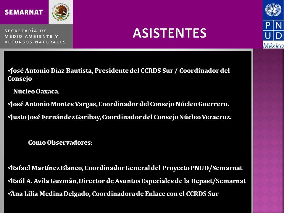 José Antonio Díaz Bautista, Presidente del CCRDS Sur / Coordinador del Consejo Núcleo Oaxaca.
