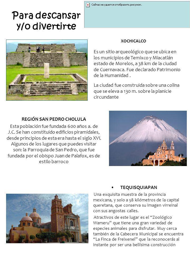 Para descansar y/o divertirte TEQUISQUIAPAN Una exquisita muestra de la provincia mexicana, y solo a 58 kilómetros de la capital queretana, que conser
