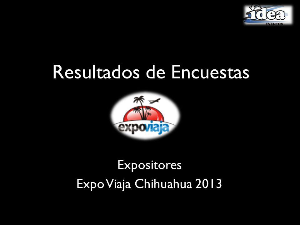 Resultados de Encuestas Expositores Expo Viaja Chihuahua 2013